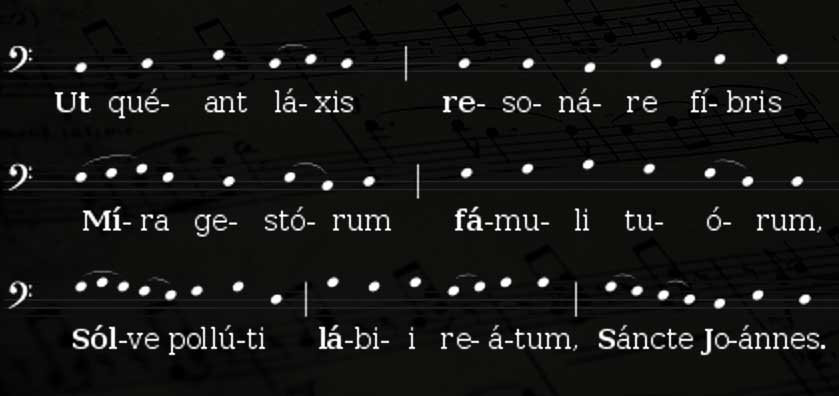 современная нотация гимна святому Иоанну