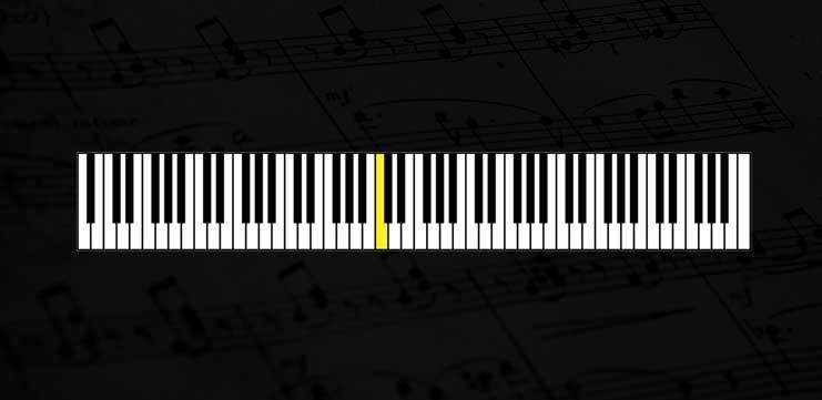 нота до на фортепиано